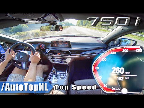 BMW 7 SERIES 2020 750i | 4.4 V8 BiTurbo 530HP | TOP SPEED on AUTOBAHN (No Speed Limit) by AutoTopNL