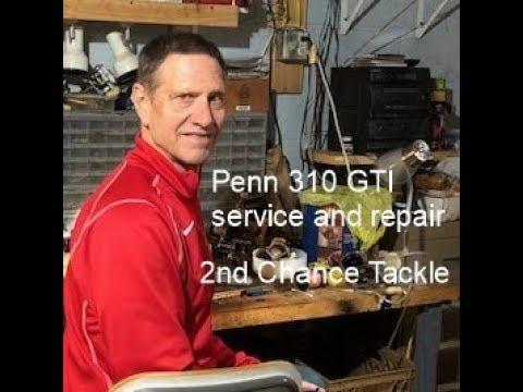 Penn 310 GTi fishing reel basic maintenance service and rebuild