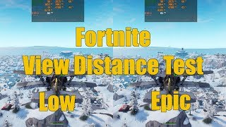 Fortnite View Distance Low vs Epic Graphics and Performance Comparison