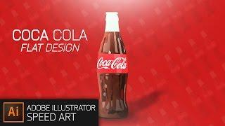 Illustrator Coca Cola Flat Design Speed art #DOTM
