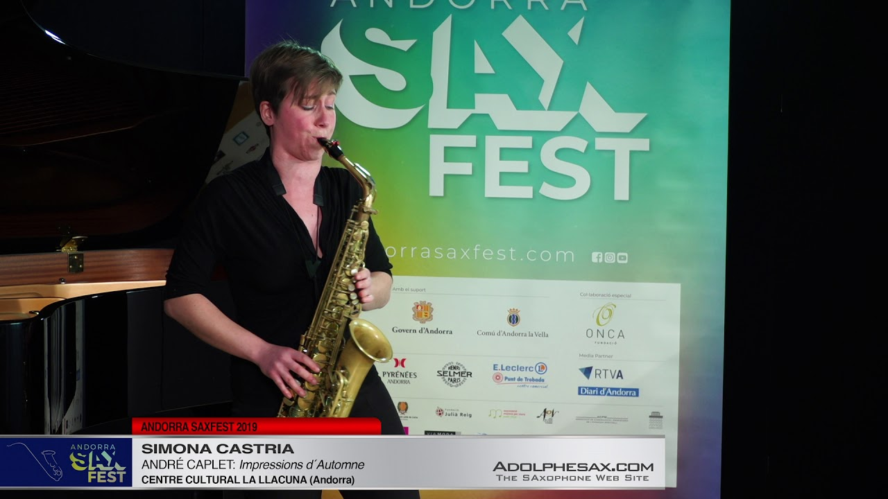 Andorra SaxFest 2019 1st Round   Simona Castria   Impressions d´Automne by Andre Caplet