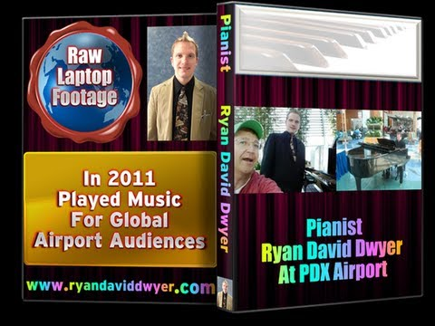 Amazing Pianist Ryan David Dwyer At PDX International Airport