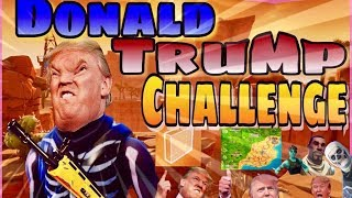 THE DONALD TRUMP FORTNITE CHALLENGE (Walls Only) [Funny Moments & Experiments]