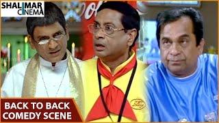 Repeat youtube video Latest Telugu Comedy Scenes || Back to Back || Brahmanandam, M. S. Narayana, AVS || Shalimarcinema