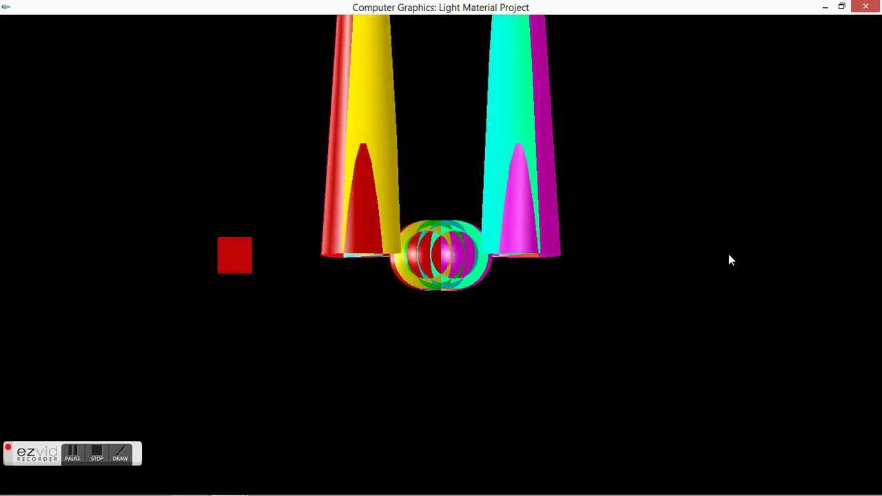 Computer Graphics using OpenGL : 3d,Light,Camera,Material and keyboard  interaction Project
