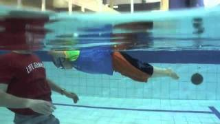 uSwim, level 3, skill 1 - Streamlined kick aka Torped Kick, how to teach.flv