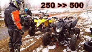 Big power in a small ATV // New 57HP engine from honda cb 500 // Duzy silnik w malym quadzie