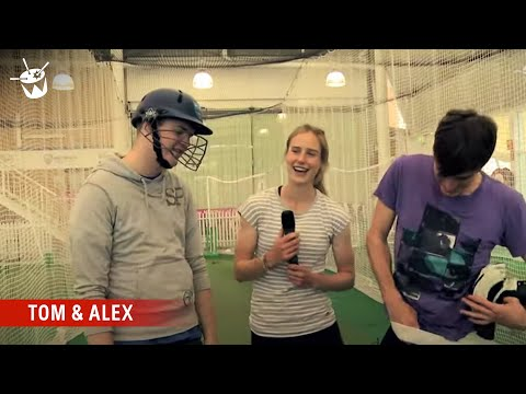 Tom & Alex get bowled over by Ellyse Perry and Stuart Clark!