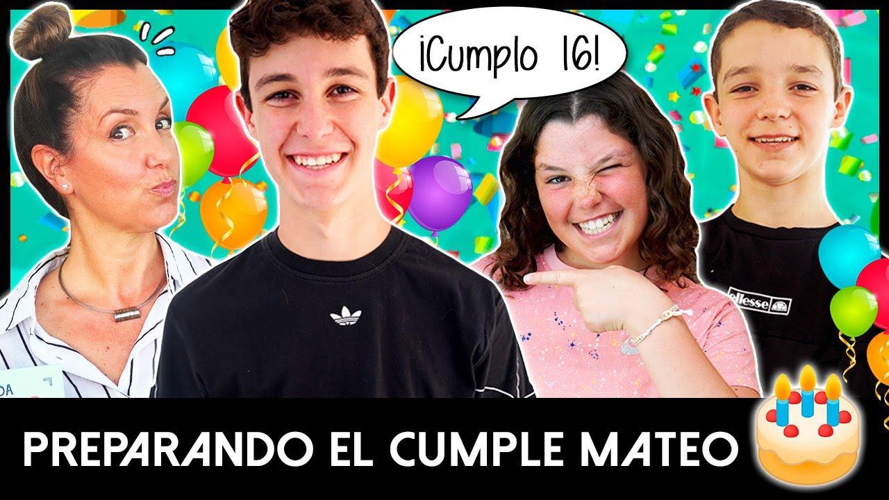¡¡MATEO CUMPLE 16!! 🥳 HUGO y DANIELA preparan una FIESTA SORPRESA a su HERMANO por su CUMPLEAÑOS 😍