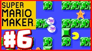AMAZING PAC MAN LEVEL! - Super Mario Maker - Super Mario Maker Gameplay Walkthrough Part 6