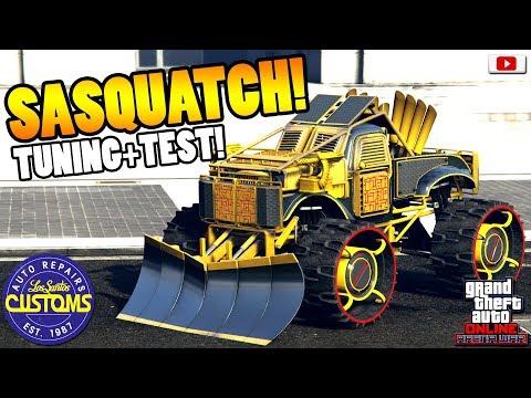 💯🛠Einziges 100% Kugelsicheres Arena Auto SASQUATCH Tuning+Test!💯🛠[GTA 5 Online Arena War Update DLC] thumbnail