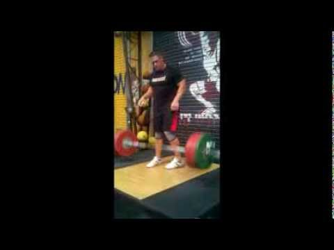 John Cena Training | Incredible strength with Cleans and front squats