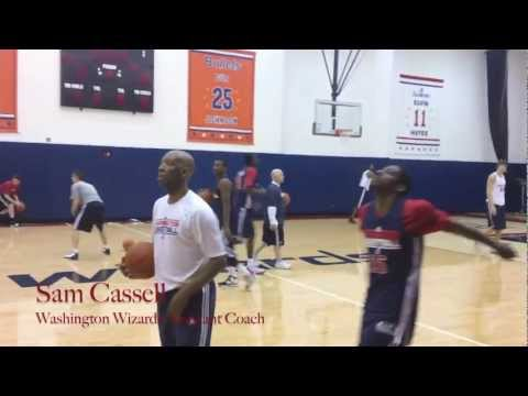 Shooting and Smilling with Sam Cassell