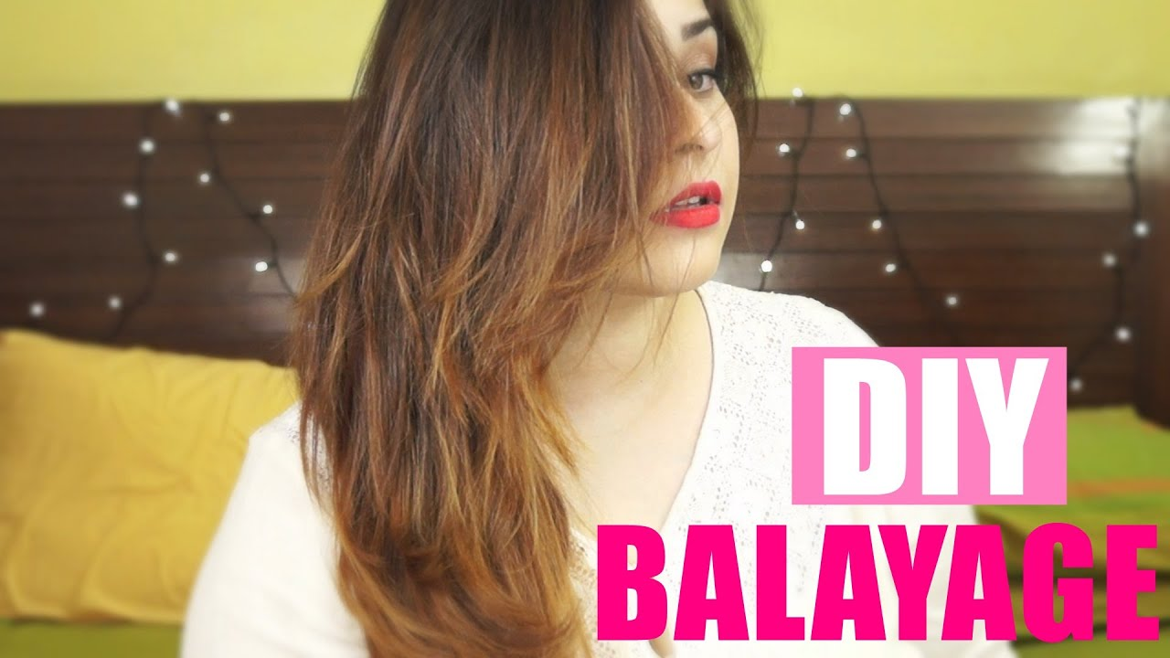 Diy Balayage Hair Tips And Technique Light Golden Brown On Black Indian Hair