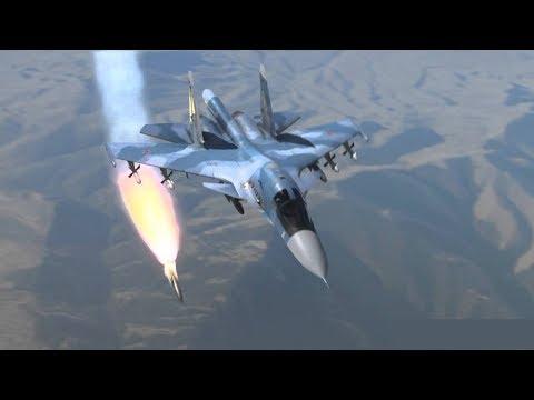 Russian Air Force airstrike on FSA jihadists in Idlib province | October 14th 2017