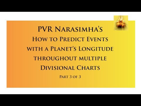 How to Predict Events with a Planet's Longitude, throughout multiple Divisional Charts - Part 3/3