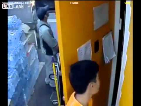 Guy who threw grenade during Bangkok protest caught on CCTV