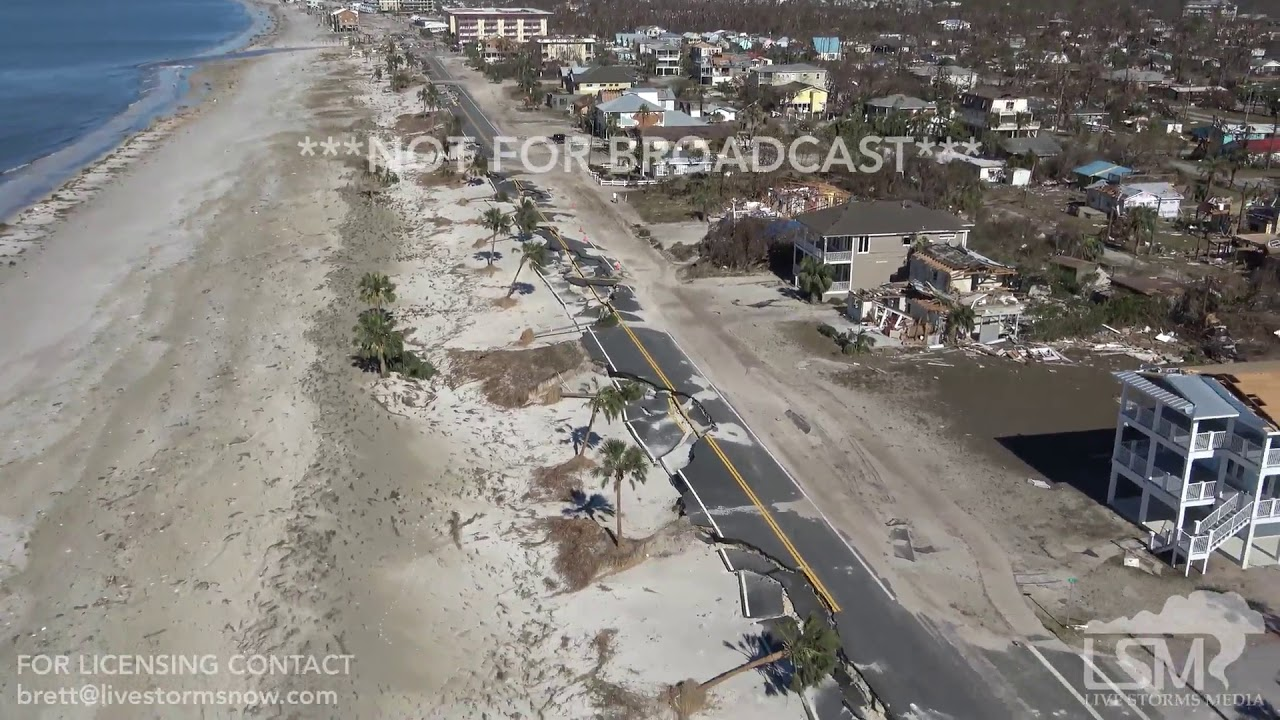 10 12 2018 Mexico Beach To Port St Joe Fl Helicopter Video Of Hurricane Michael Extreme Aftermath