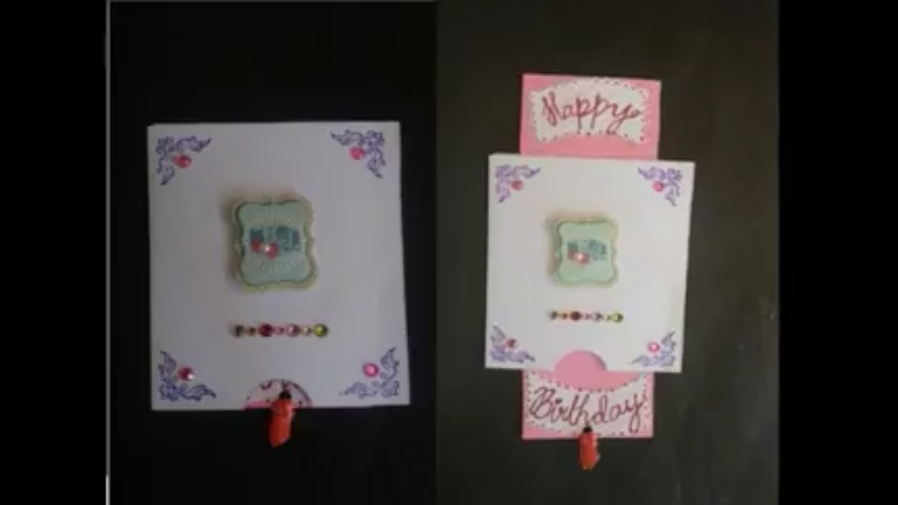DIY Push N Pull- Birthday Card