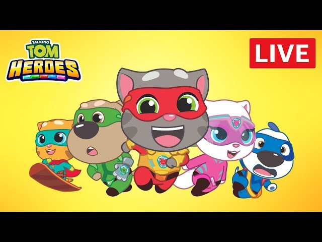 Talking Tom Heroes - Fun Cartoons LIVE 24/7  🔴