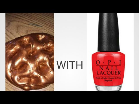 DIY metallic slime with nail paint glue shampoo |no activator| siddhi srivastava