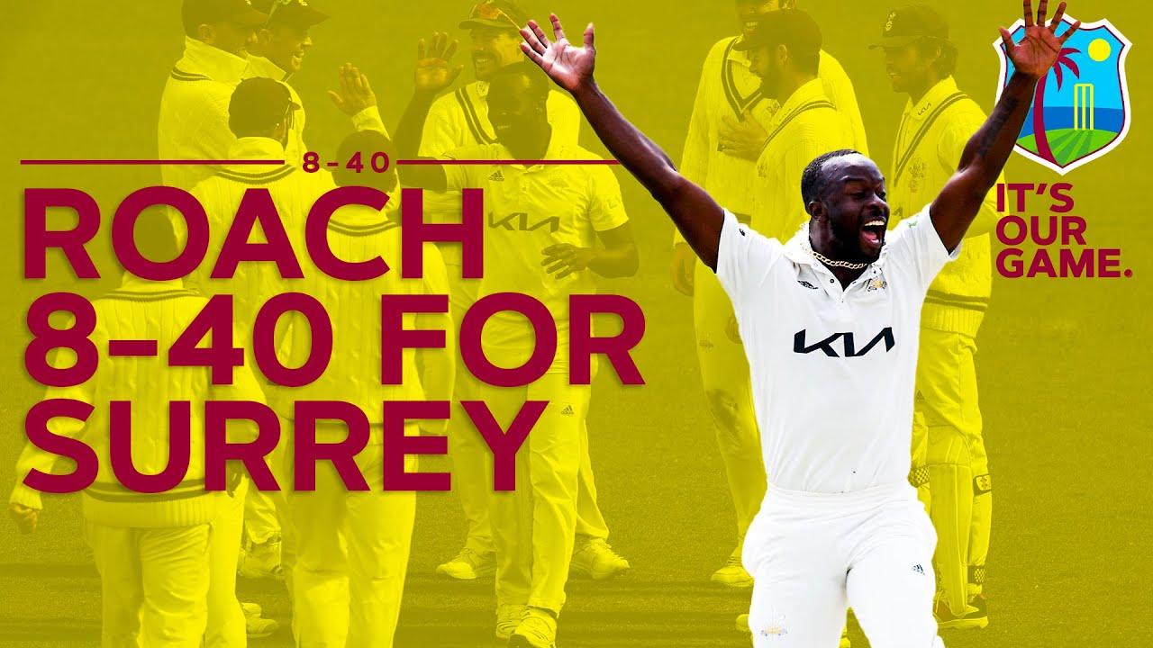 Kemar Roach takes 8-40 for Surrey! | Best FC Figures