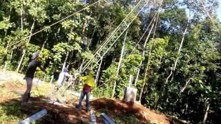 Proses Awal merakit Tower SUTT dengan Box Crane Manual