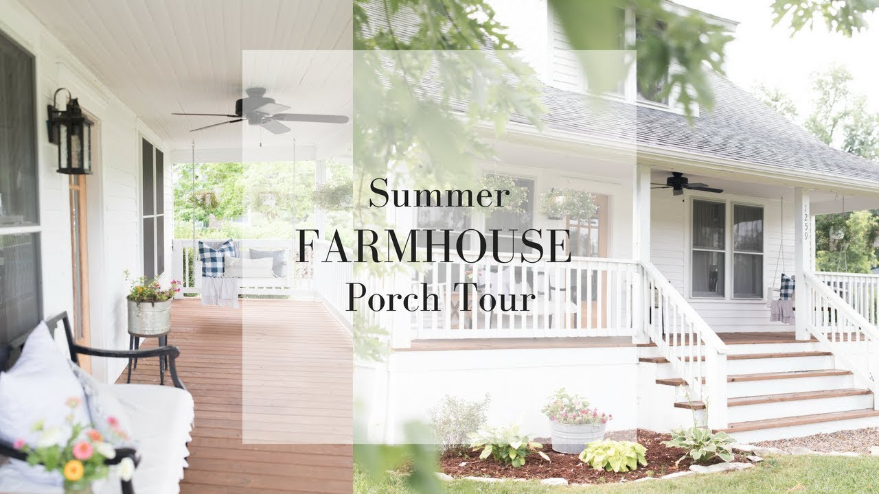 Farmhouse Front Porch Summer Decorating Ideas