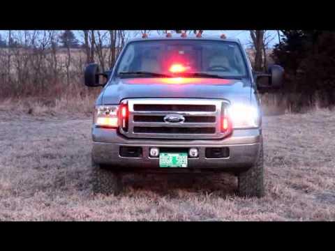 Whelen Strobe lights,Dash light,Grill lights and back window bar ...