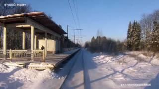 Ускоренное видео из хвостовой кабины ЭД4М х10 #Железнодорожное