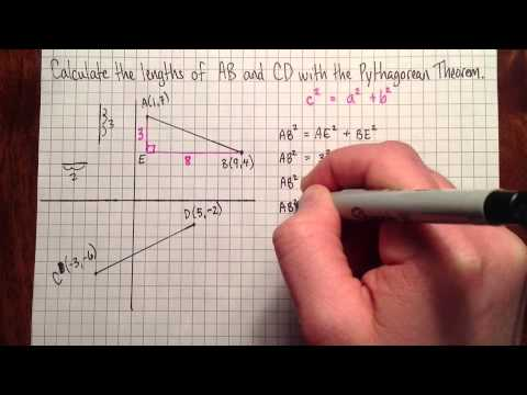 Calculating the length of a line segment with the ...