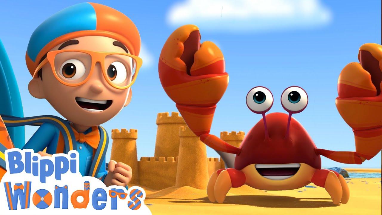 Download Blippi Wonders - Building Sandcastles! | Blippi Animated Series | Cartoons For Kids