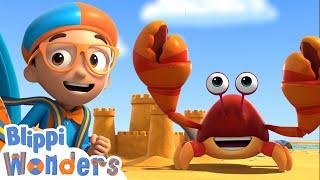 Blippi Wonders - Building Sandcastles!   Blippi Animated Series   Cartoons For Kids