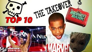Greatest Money in the Bank contract cash-ins- WWE Top 10 - BROWN CHANGE TAKEOVER - REACTION