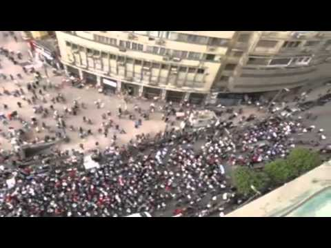 Citizen journalist reports from protest in Tahrir Square - Truthloader