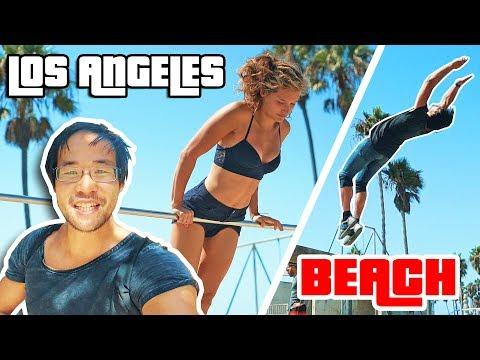 DES SALTOS SUR LA PLAGE DE GTA V !! (Santa Monica)
