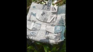 Bolsa mochila com aplicação de dois bolsos diferentes – Adriana Richartz