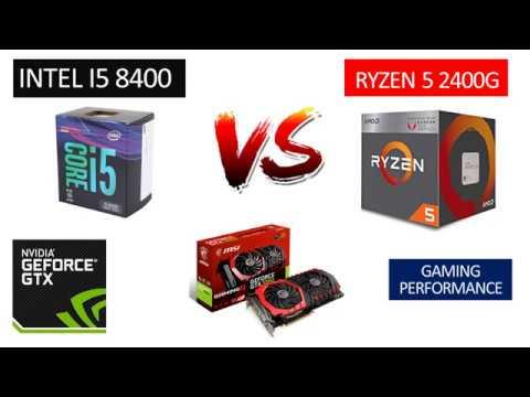 i5 8400 vs Ryzen 5 2400G - GTX 1060 6GB - Benchmarks Comparison