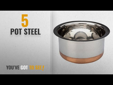 Top 10 Pot Steel [2018]: Bhalaria Copper Bottom Stainless Steel Tope, 1000 Ml