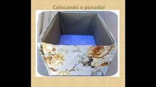 Como fazer um Cesto de tecido