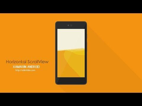 Xamarin Android Tutorial - Horizontal Scroll View