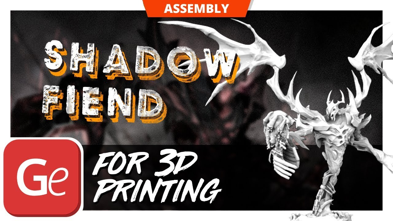shadow fiend 3d printing model inspired by dota 2 character youtube