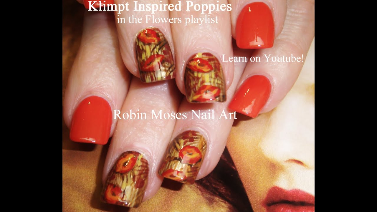 DIY Fall Poppy Nail Design Tutorial - YouTube