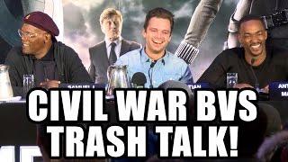 Captain America Civil War Cast Trash Talk Batman V Superman