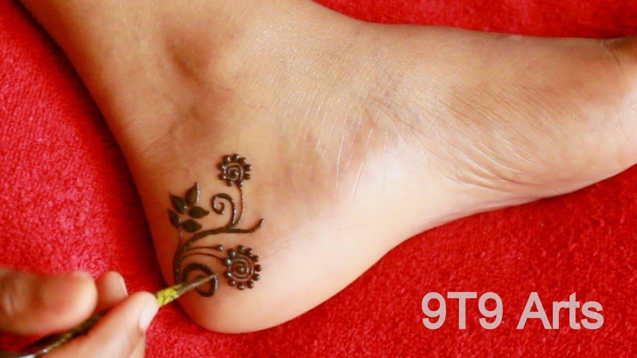 Eid Special Simple Foot Mehndi Design||Most Beautiful Feet Mehndi Design 2020||Easy Leg Mehdi Design