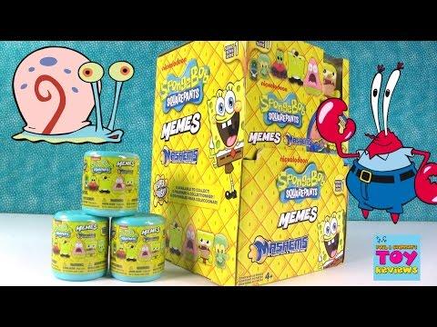 Spongebob Mashems Memes Full Case Blind Bag Capsule Opening | PSToyReviews