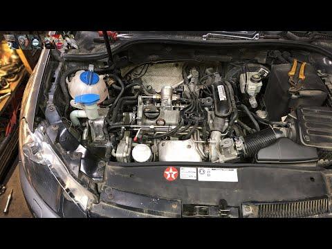 VW Golf 6 - Замена цепи ГРМ. Проще вынуть двигатель.