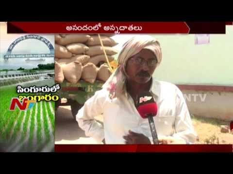 Farmers Happy with Singur Reservoir Water || Harish Rao || Telangana || NTV