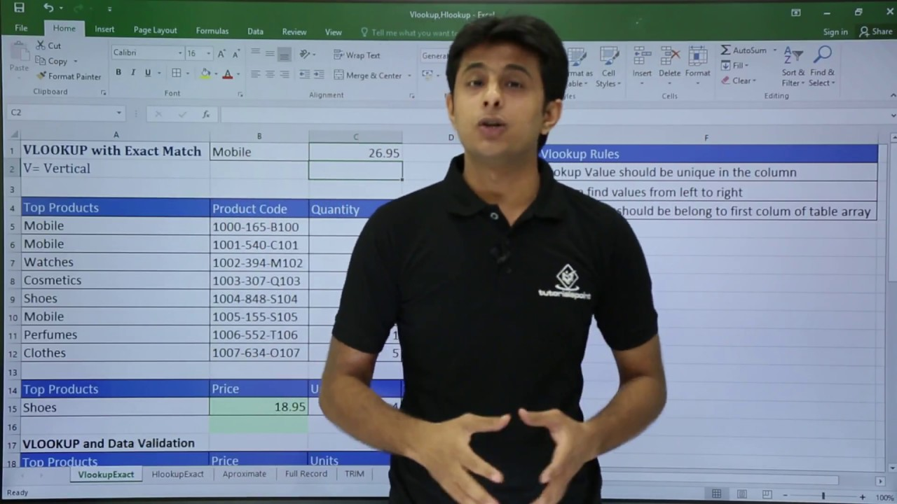 MS Excel - VLookup Rules