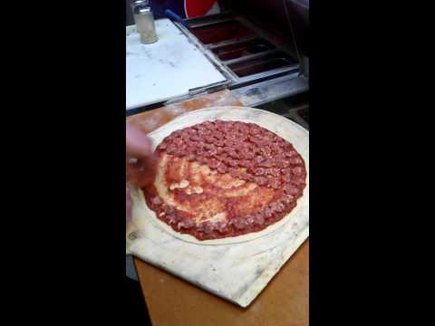 Making Double Sausage Pizza